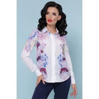 Белая рубашка с цветочным принтом Zoya