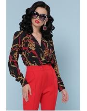 Блуза-боди с принтом цепи Karen