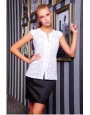 Белая летняя блузка без рукавов Flori