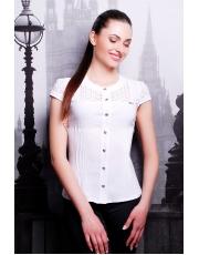 Женская блузка белого цвета с коротким рукавом Snejana