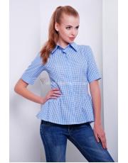 Женская рубашка в клетку с баской Dominika