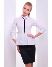 Оригинальная блуза с баской и декоративным украшением Dominika