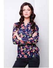 """Шифоновая блуза с длинным рукавом и цветочным принтом """"Весна"""""""