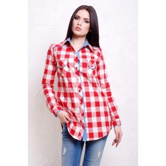 Женская рубашка в клетку с длинным рукавом Kanzas