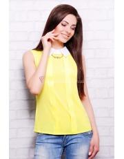 Блуза с воротничком без рукава Kelli