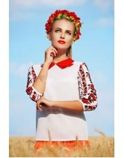 Блуза с вышивкой на рукавах Iva