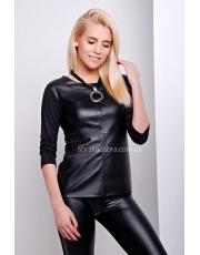 Кофта женская с кожаными вставками Leatheres