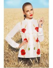 Блуза с длинным рукавом в маки Mak
