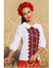 Женская блуза в этническом стиле с украинским орнаментом