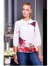 Элегантная женская блузка из креп-шифона с цветочным принтом Tamila