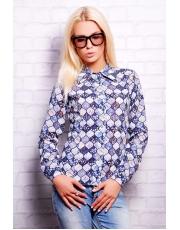 """Женская нейлоновая блуза с принтом """"Полевые цветы"""""""