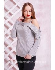 Асимметричная блуза в полоску Shade