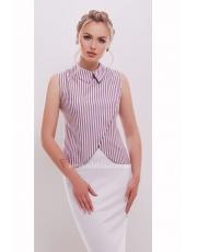 Полосатая блузка без рукавов Pavlina