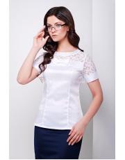 Женская нейлоновая блуза с коротким рукавом и кружевными вставками Ilona