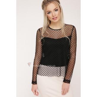 Прозрачная блуза в горохи Amalia