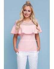 Блуза с воланом на груди Soni