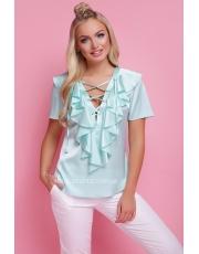 Блуза с воланами и шнуровкой Siena
