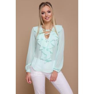 Шифоновая блуза с воланами Siena