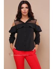 Блуза с открытыми плечами и воланом Erika