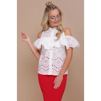 Хлопковая блуза из кружева ришелье Kalelya