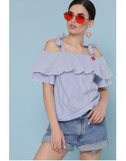 Блуза в полоску с открытыми плечами Stephania