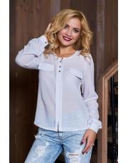 Блуза женская без воротника Shik
