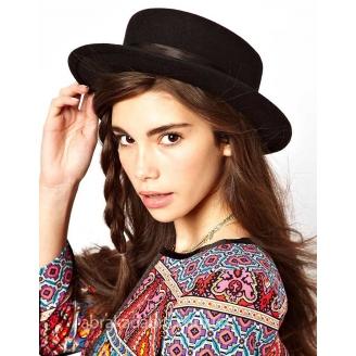 Фетровая шляпа канотье Paris