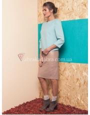 Кожаная юбка карандаш Cube