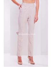 Женские бежевые брюки зауженного фасона Steysi