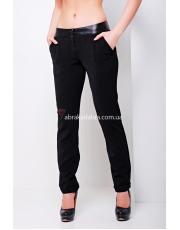 Черные прямые офисные брюки Helen