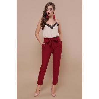 Укороченные женские брюки с высокой талией Chelsi