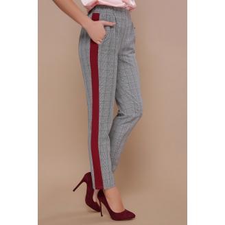 Женские брюки в клетку с лампасами Kris