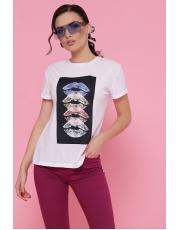 Женская футболка с принтом губы Lips