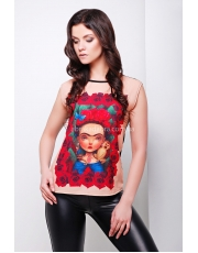 Женская футболка с Фридой Кало Frida Karlo
