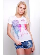 Женская футболка с девушкой Aqvarel