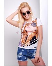 Женская футболка с девушкой Glam girl