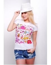 Женская футболка с парижскими мотивами