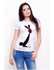 Женская футболка с принтом Заец