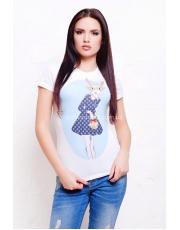Женская летняя футболка с рисунком кролик Krolik