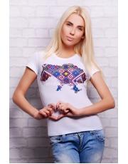 """Женская летняя футболка с принтом """"Карта Украины"""""""