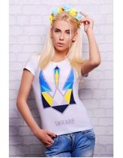"""Женская летняя футболка с принтом """"Трезубец"""""""