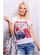Летняя женская футболка с принтом London
