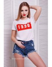 Белая футболка женская 1990