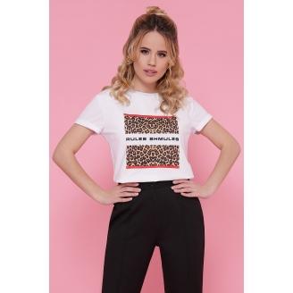 Женская футболка с леопардовым принтом Boy