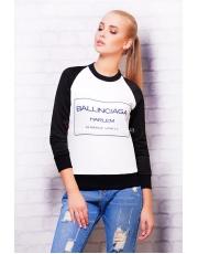 Стильная женская кофта с принтом Ballinciaga