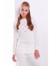 Женская вязанная кофта с ажурным узором Lika