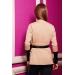 Кардиган женский с кожаными вставками Molli