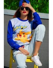 Кофта свитшот женский с покемоном PokemonGo