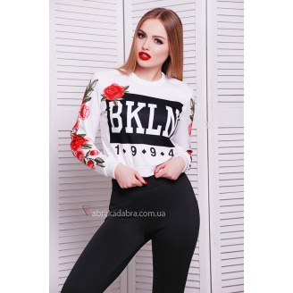 Белый свитшот BKLN