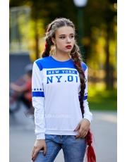 Белый свитшот с принтом NY